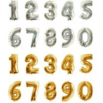 Foil balloon digits 100 and 80 centimeters