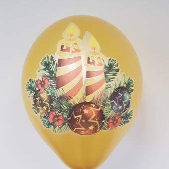 Коледни балони със печат
