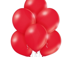 bunch of red ballons pastel color