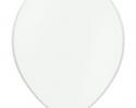 single pastel white ballon