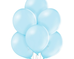 bunch of baby blue balloons - belbal brand