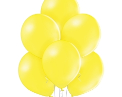 Group of yellow balloons suitable for inflation with helium and air