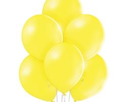 Пастелен жълт балон - стандартен размер