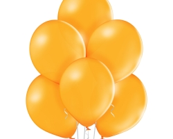 bunch of orange balloons - suitable for inflation with helium and air