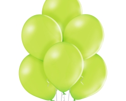 bunch of apple green balloons