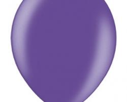 Металиков тъмен виолет балон - стандартен размер