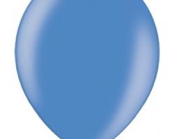 Металиков син балон - стандартен размер