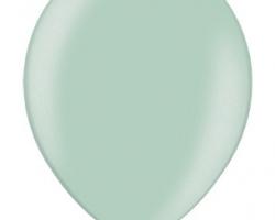 Металиков светло зелен балон - стандартен размер