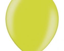 Металиков ябълково зелен балон - стандартен размер