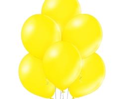 metallic citros yellow balloons