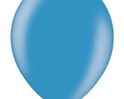 single cyan balloon