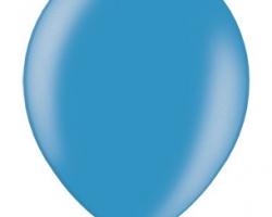 Металиков латексов балон с цвят циан