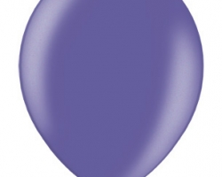 Violet metallic latex balloon