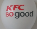 KFC so good balloon with two color print