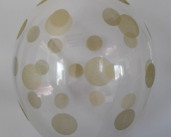 transparent balloon with print dots