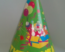 Party hat cone green happy birthday party