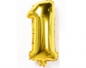 gold folio balloon suitable for helium inflation with print number 1