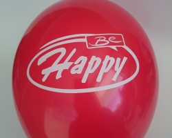 Balloon with one side one color print Be happy
