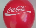 Red balloon with one side one color print Coca-Cola