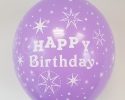 happy birthday balloon with purple color