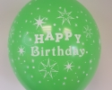 happy birthday balloon with green color