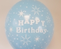 happy birthday balloon with baby blue color
