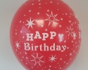 happy birthday balloon with red color