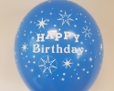 happy birthday balloon with blue color