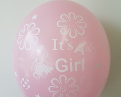 Nice pink balloons with print I am a girl