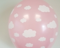 Pink balloon with print cloud