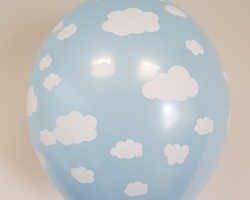 Balloons with print clouds - blue clouds