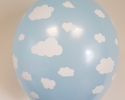 Blue balloon with print cloud