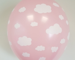 Big pink balloon with print cloud