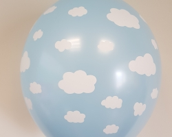 Big blue balloon with print cloud