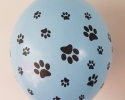 Blue balloon with print paws