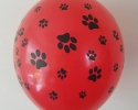 Red balloon with print paws