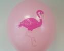Розов балон с печат фламинго