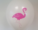 Ванилия балон с печат фламинго