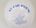 White balloon with print It's a boy