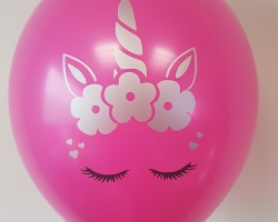 "Super cute balloons with print ""Unicornd"" pack of 10 balloons"
