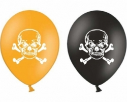 """Round Latex balloons with Halloween theme """"Skull"""" pack of 10 pieces"""