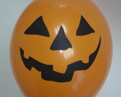 range round balloon with print for Halloween smile
