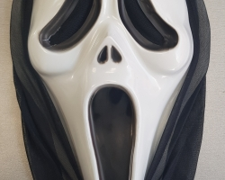 """Plastic halloween mask from the """"Scary Movie"""" and """"Scream"""""""
