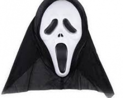 "the mask from the ""Scream"" movie and ""Scary movie"""