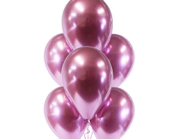 Balloon with chrom Pink (Muave) color pack of 100 party balloons