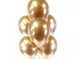 Балони с цвят хром злато опаковка от 10 парти балона
