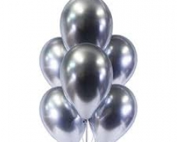 Balloon with chrome silver color pack of 10 party balloons