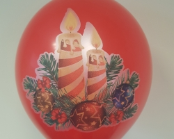 "Balloons with full-color printing ""Christmas mood"" in a package of 10 pieces"