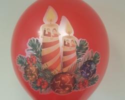 """Балони със пълноцветен печат """"Коледно настроение"""" опаковка от 10 броя"""