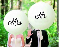 Balloons Mr and Mrs - party set wedding balloons